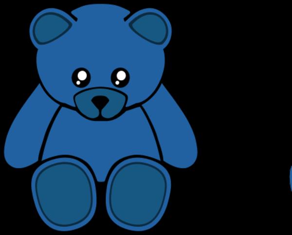 600x483 Blue Teddy Bear Clipart