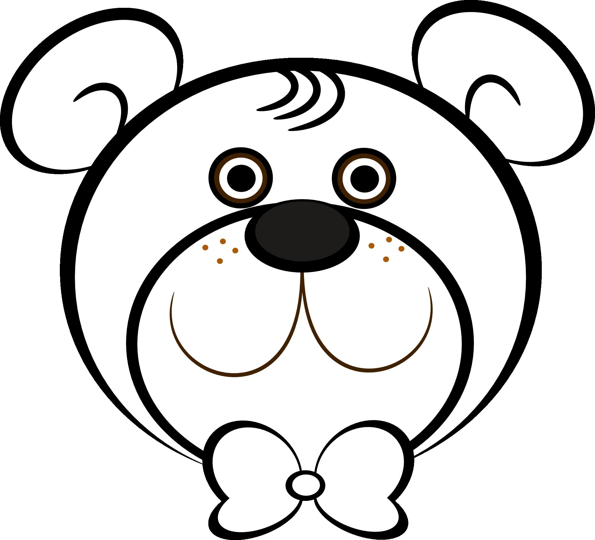 1979x1795 Drawn Teddy Bear Head