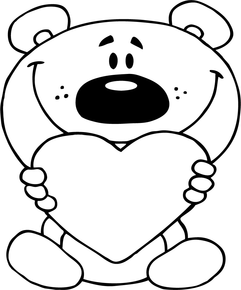 792x953 I Love You Coloring Pages With Teddy Bear