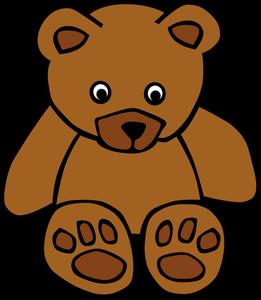 261x300 6353 Teddy Bear Clip Art Outline Public Domain Vectors
