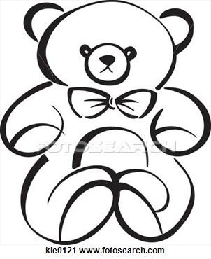 302x370 Teddy Bear Drawings Clip Art