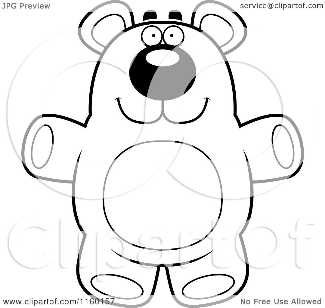 1080x1024 Teddy Bear Outline Coloring Page ~ Alltoys