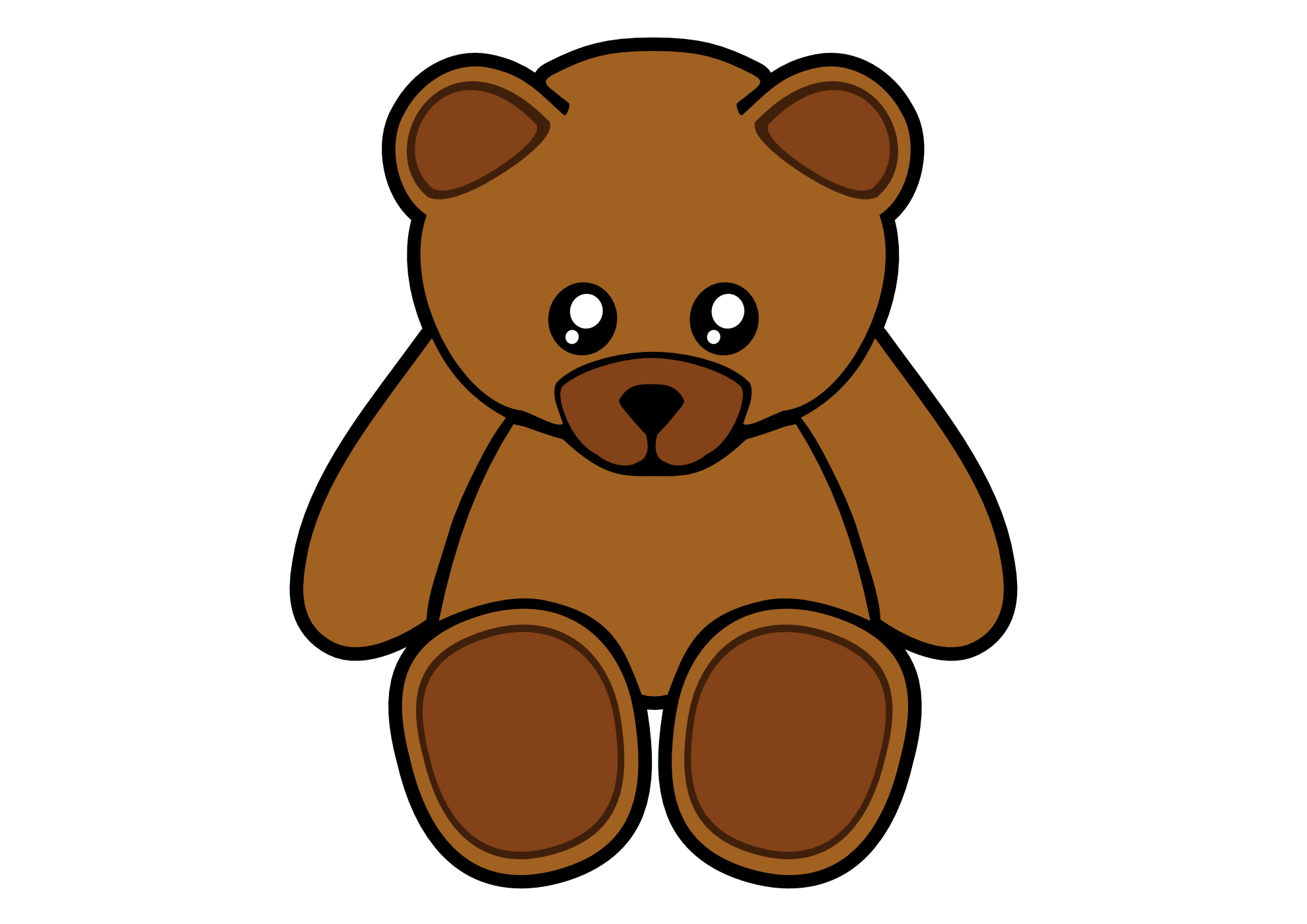 1979x1399 Teddy Bear Outline Clipart Free Images