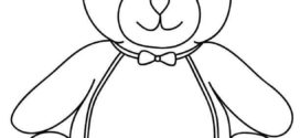 272x125 Best Teddy Bear Template Ideas Bear Template