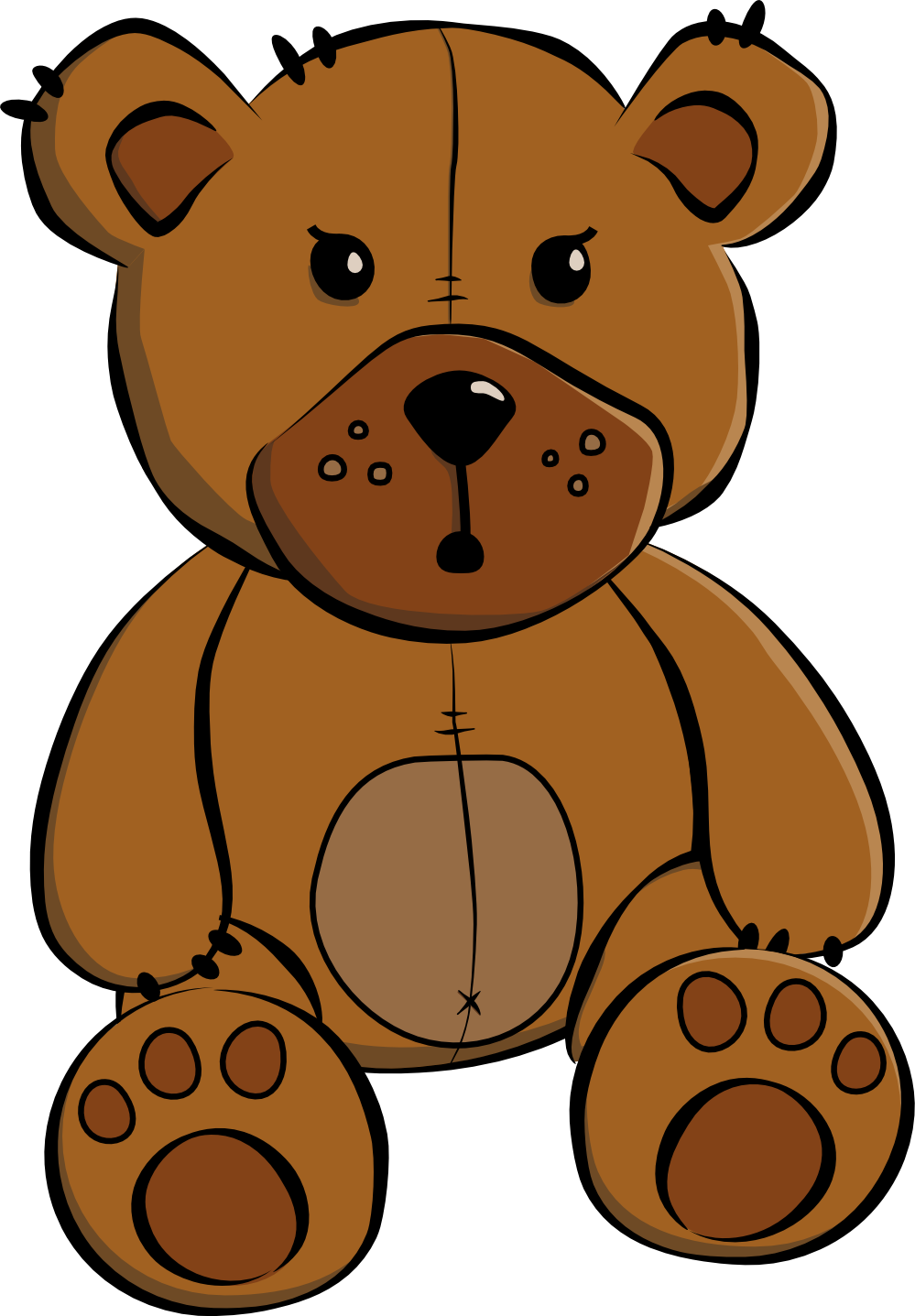 999x1437 Girl Teddy Bear Clipart