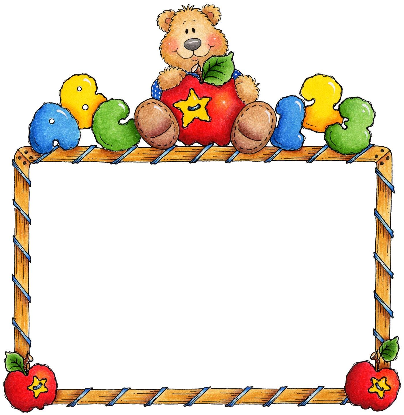 1400x1435 Teddy Clipart Frame