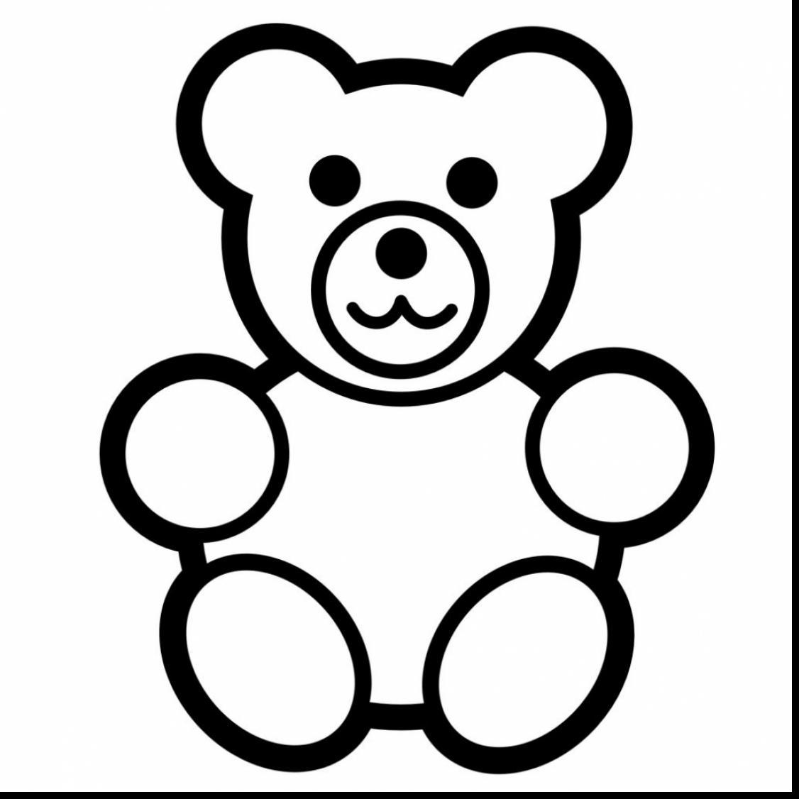 1126x1126 Beautiful Teddy Bear Clip Art Black And White With Teddy Bear