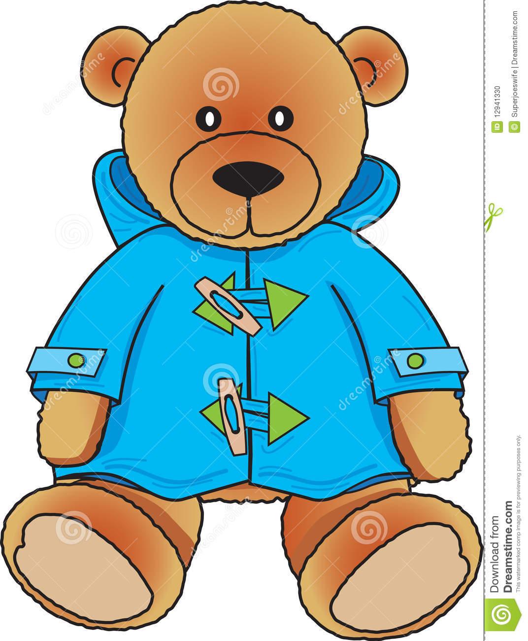 1072x1300 Cute Colors Clipart Stock Photo Teddy Bear In Blue Coat Cute
