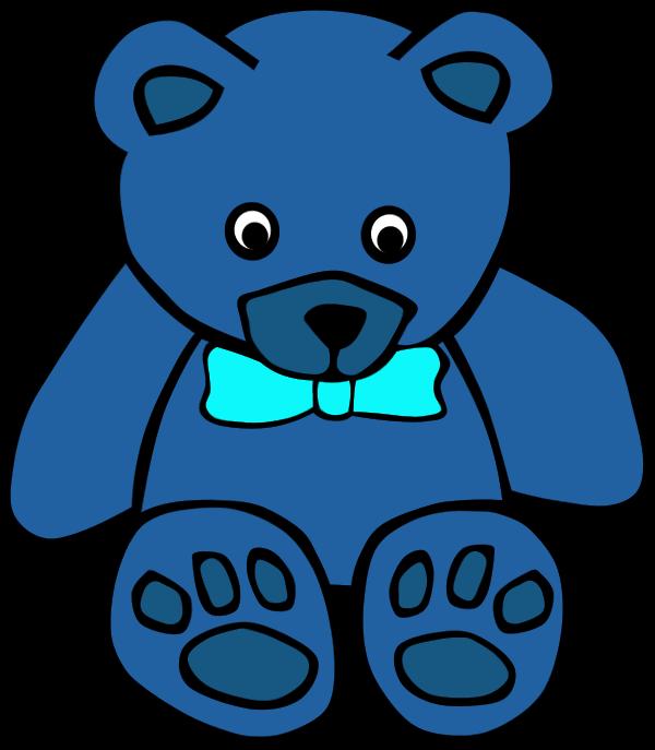 600x687 Blue Teddy Bear Clip Art 101 Clip Art