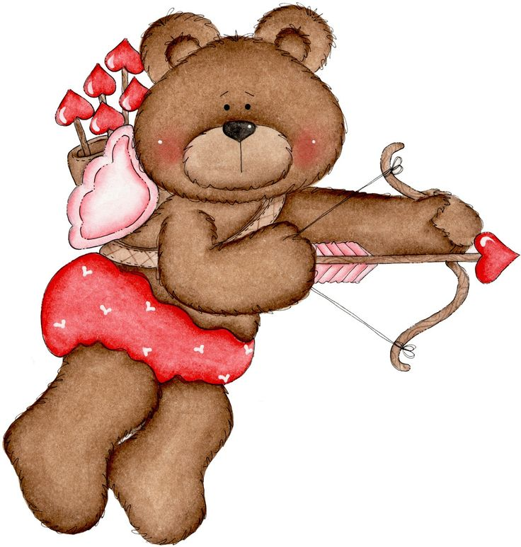 736x773 Cute bear valentine clipart