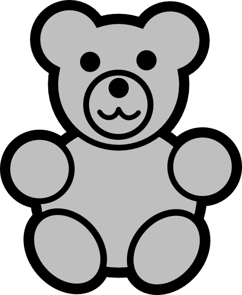 486x593 Teddy Bear clipart gray