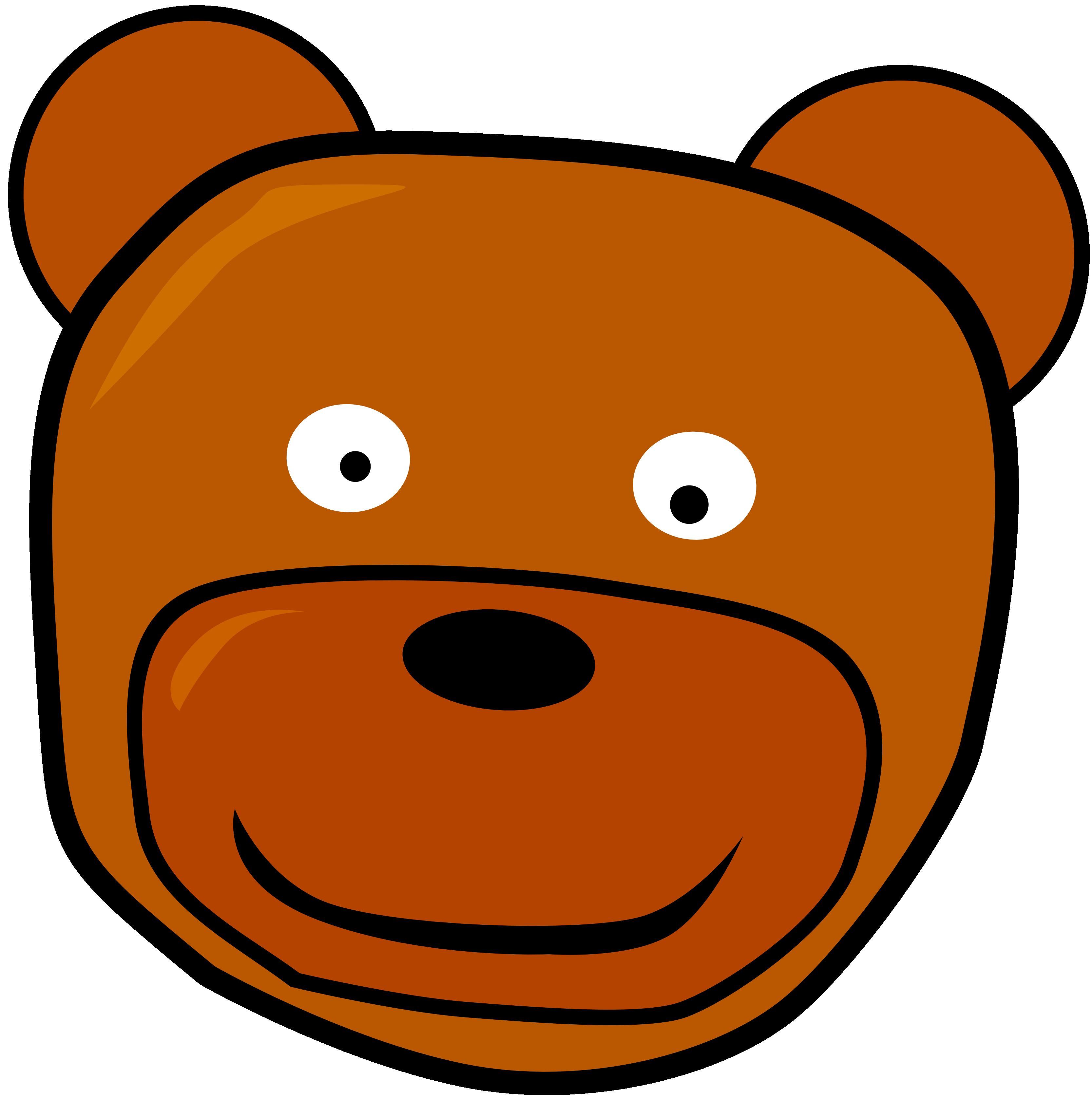 3333x3358 Teddy Clipart Head