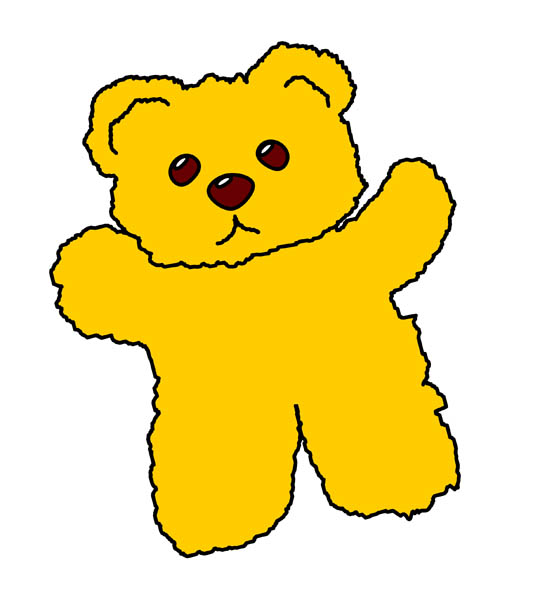533x600 Teddy clipart yellow baby