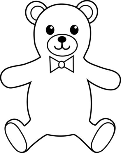 415x523 Bear Clipart Black And White