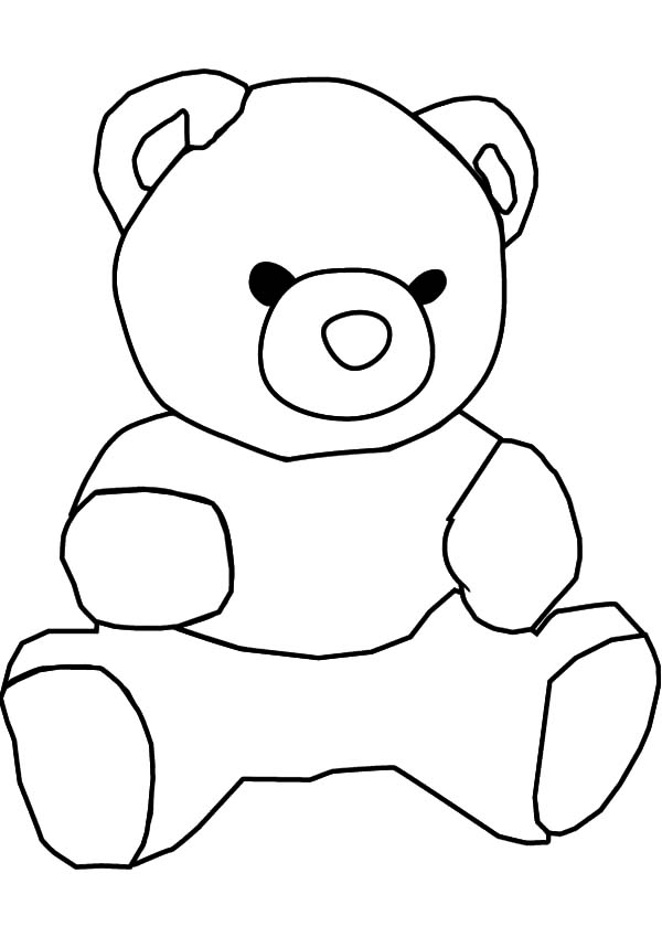 Teddybear Outline | Free download on ClipArtMag