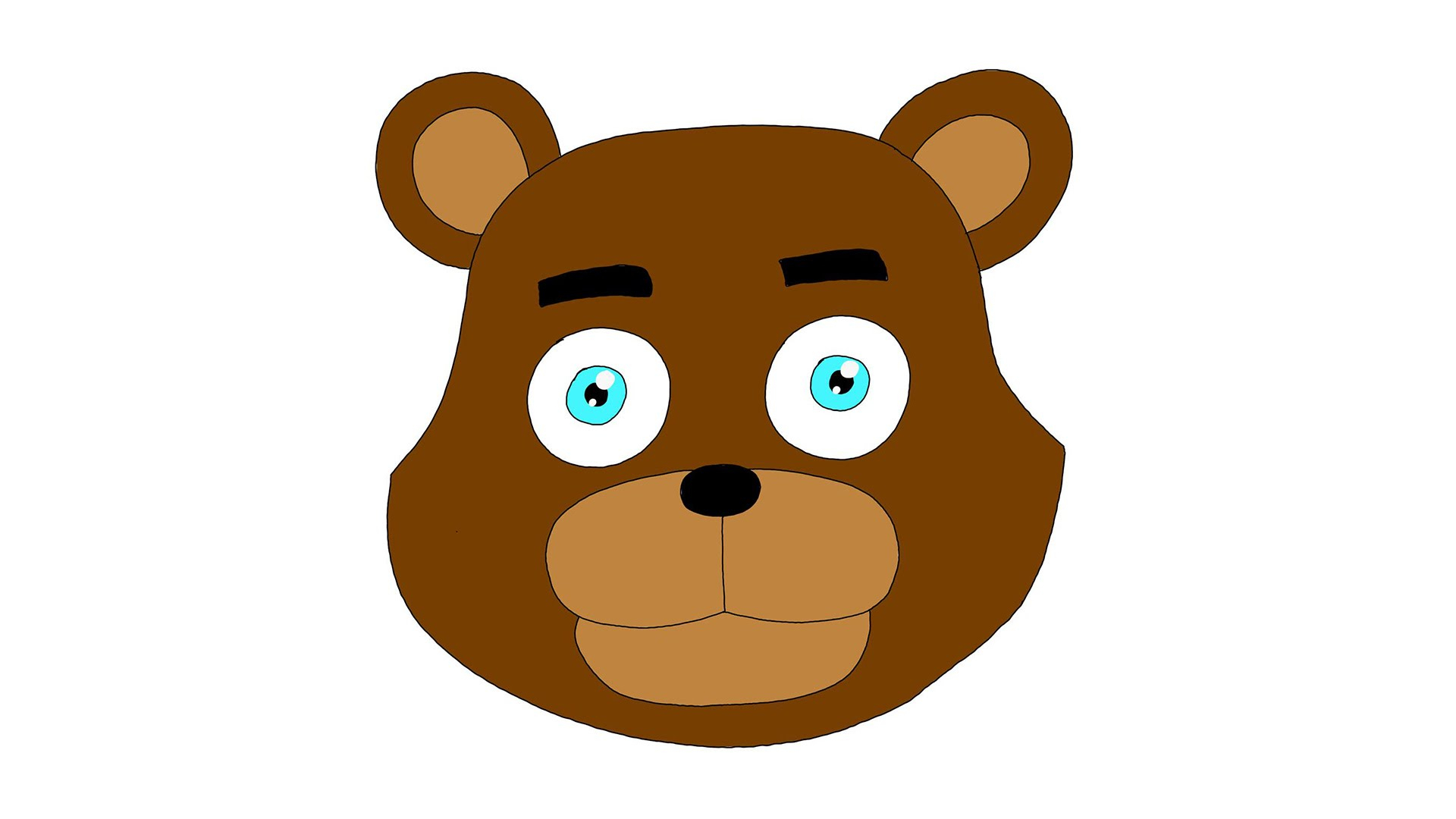 1920x1080 Drawing Teddy Bear Face Bear Face Outline Drawing Free Clipart