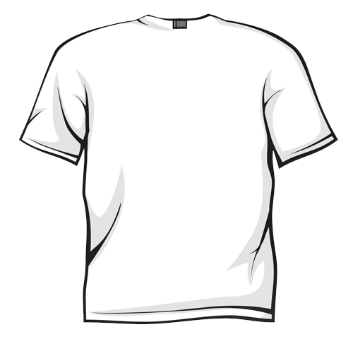 500x480 White Shirt Front Back Clipart