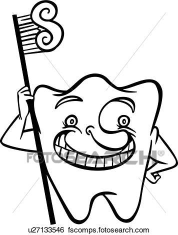 356x470 Clip Art of , teeth, cartoon, dental, dentist, tooth, toothbrush