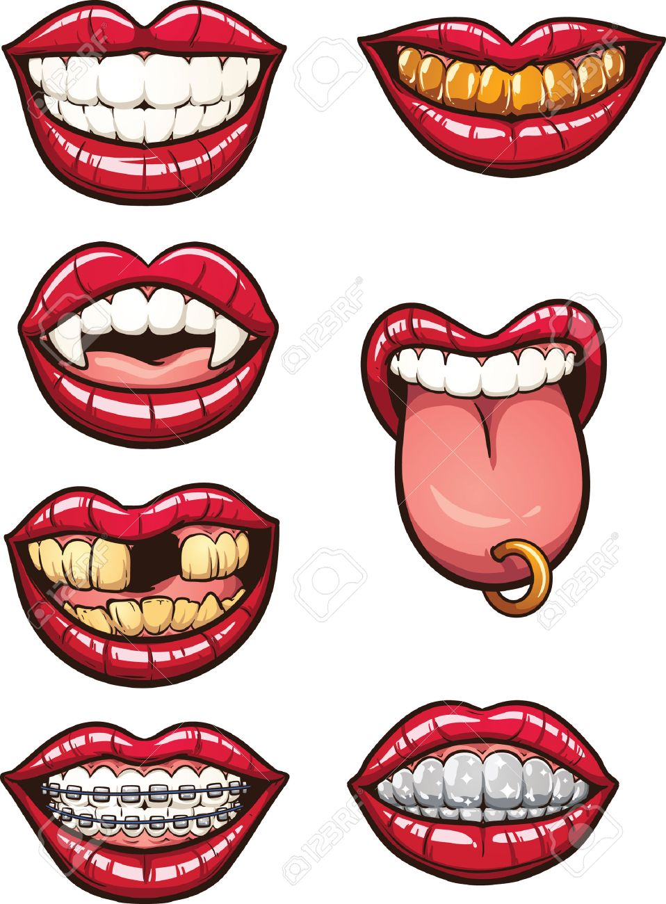 Teeth Smile Clipart