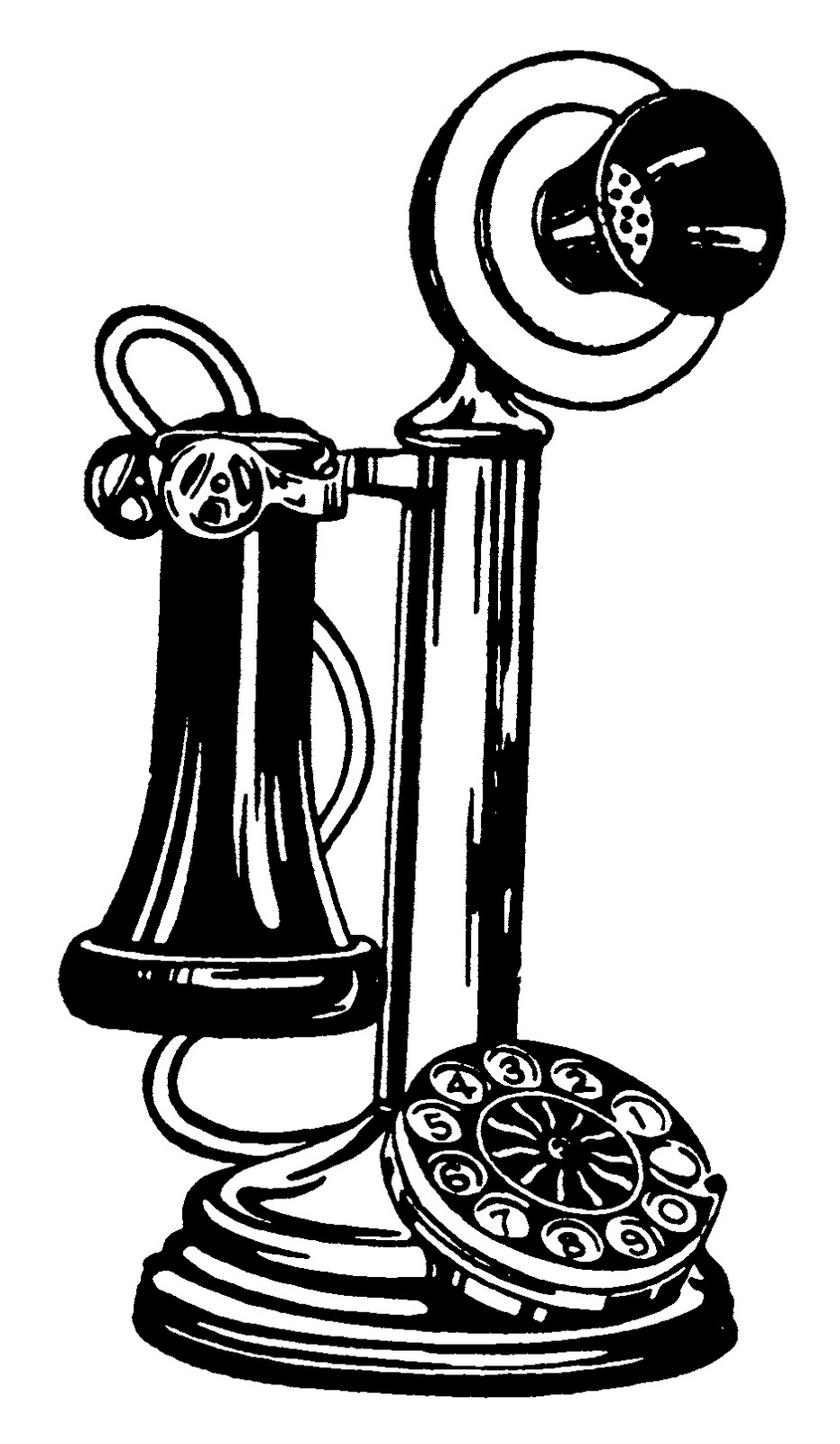 931x1600 Old Fashioned Phone Clip Art