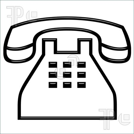 450x450 Telephone Clipart Black And White Telephone Set Clipart 20 Fee