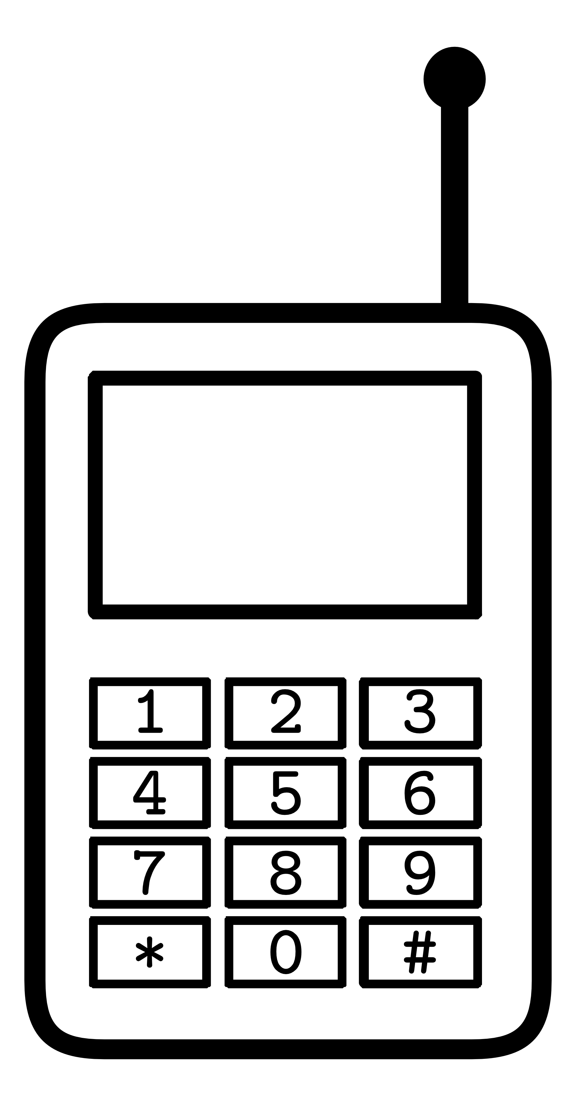 1979x3799 Phone Black And White Clipart