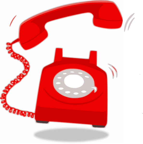 594x596 Ringing Red Telephone Clip Art