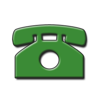 350x350 Clip Art Shape Of A Telephone Green With Drop Shadow