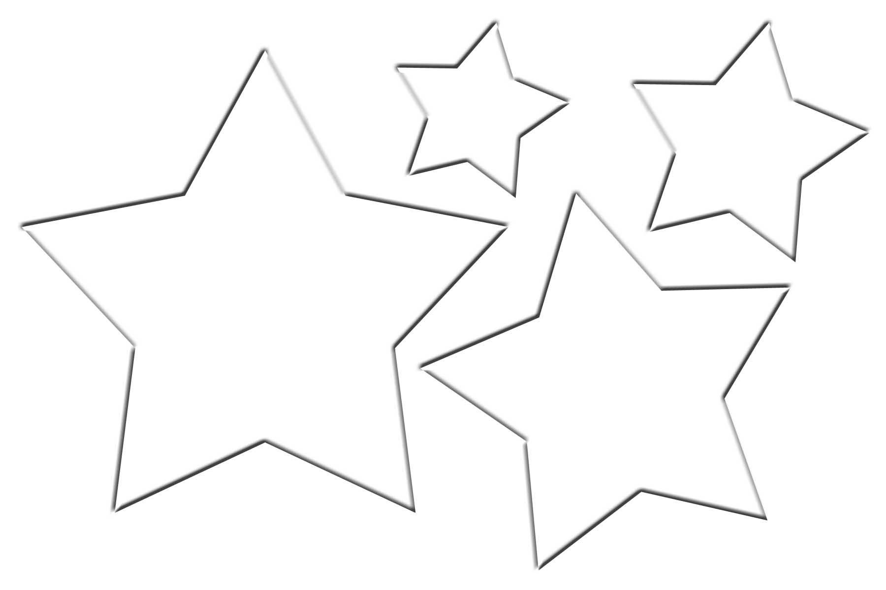 1800x1200 Christmas Star Template