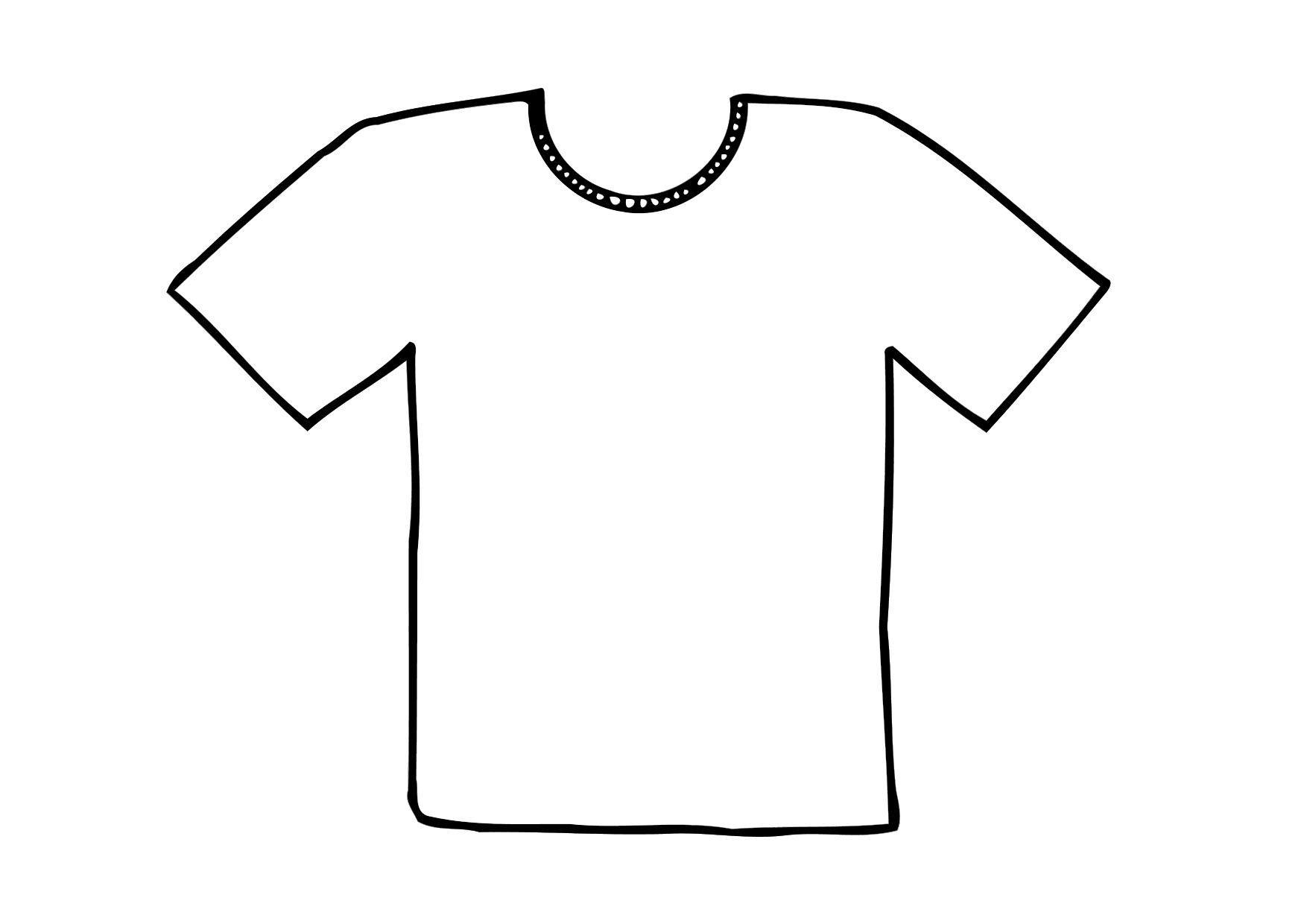 1750x1240 Clipart T Shirt Template Online Calendar Templates