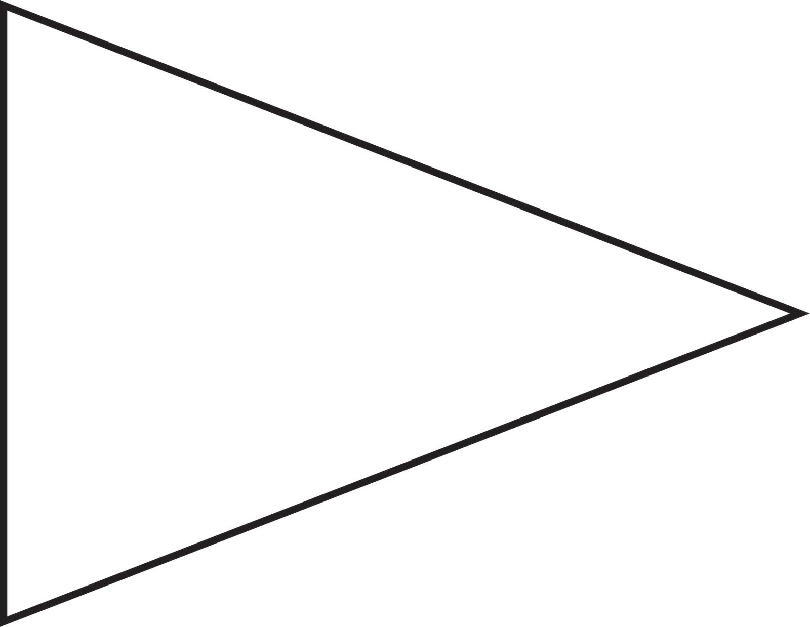 1600x1239 Pin Triangle Flag Outline Clip Art Vectorline Royalty Free
