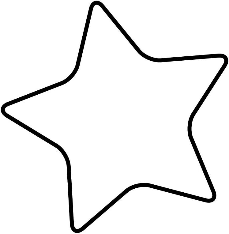 748x764 Star Outline Star Template Large Free Download Clip Art