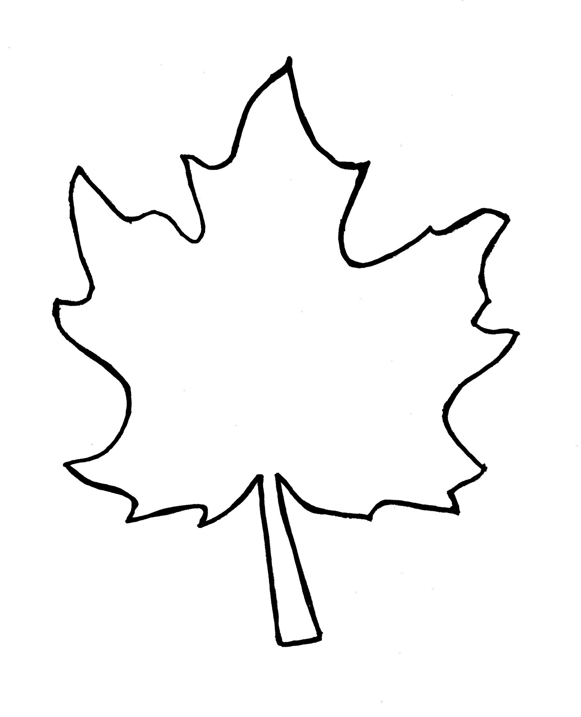 2266x2795 Autumn Leaf Outline Template Clipart Free To Use Clip Art Resource