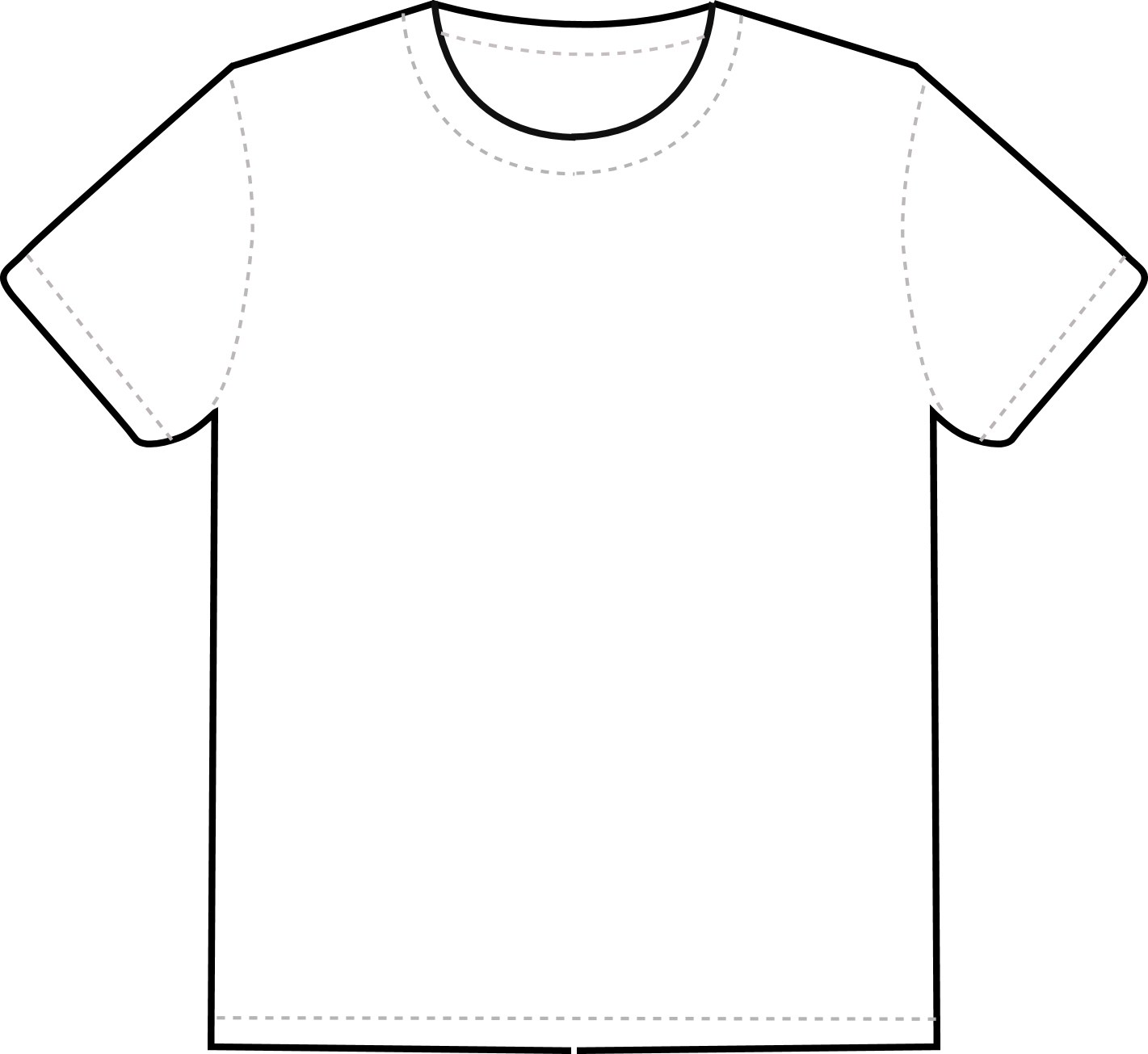 1421x1305 Blank T Shirt Template Clip Art Clipart