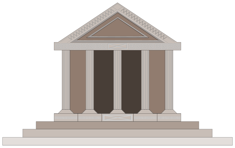 800x505 Free Clipart Parthenon Guseinstein