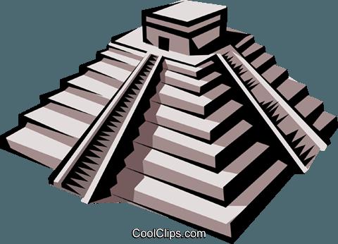 480x346 Inca Temple Royalty Free Vector Clip Art Illustration Arch0138