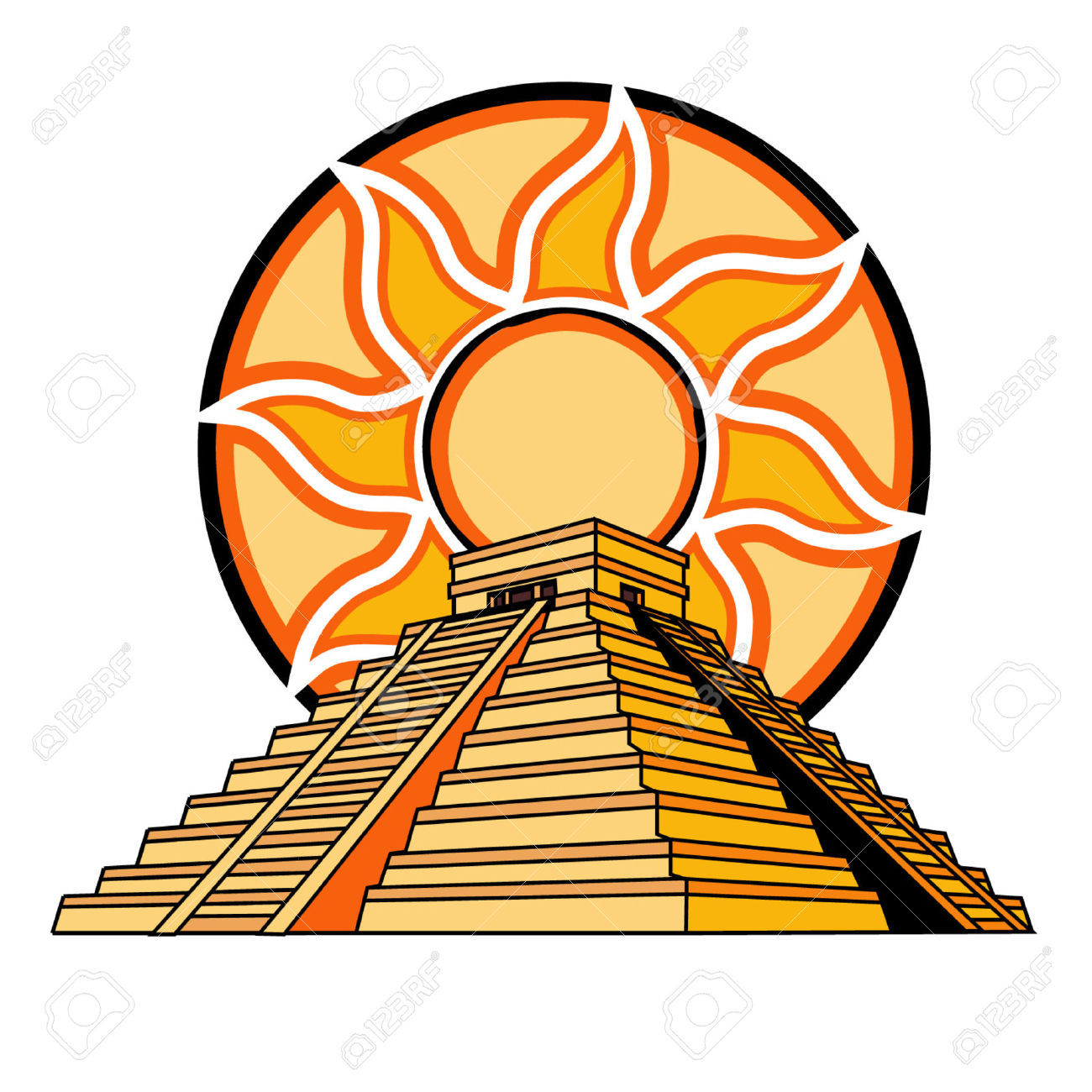 1300x1300 Pyramid Clipart Mayan Temple