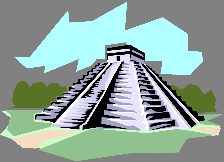 1507x1091 Aztec Clipart Aztec Temple
