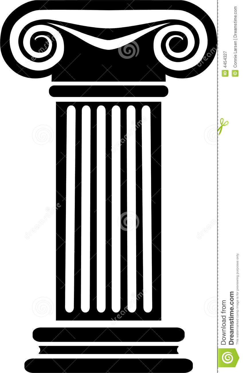 848x1300 Temple Clipart Greek Pillar