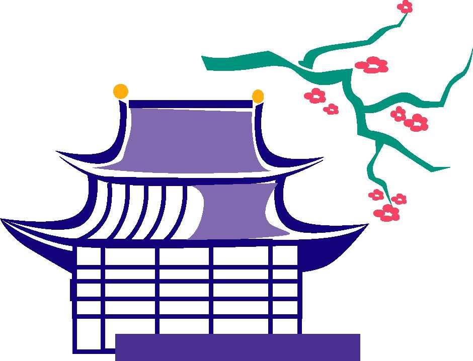 940x718 Temple Clipart Japanese House