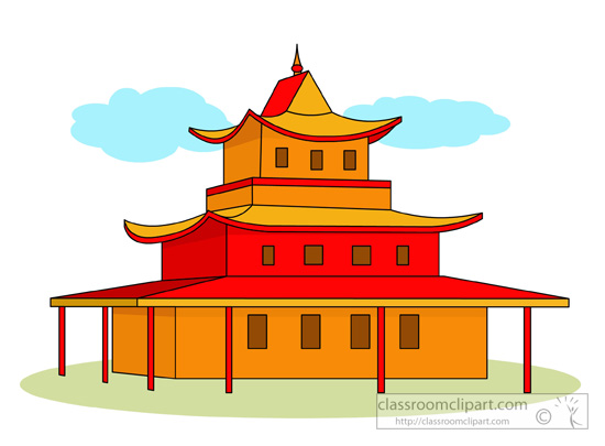 550x405 Thai Clipart Buddhist Temple