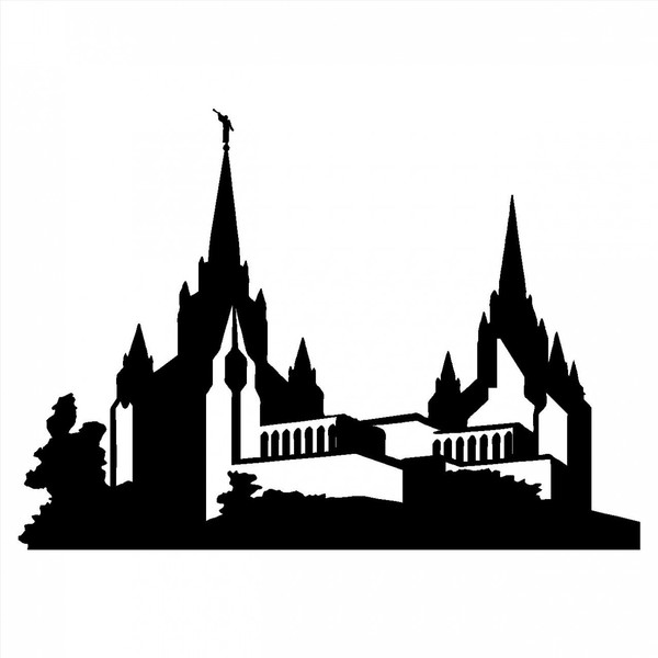 600x600 Orlando Temple With Kids Clipart