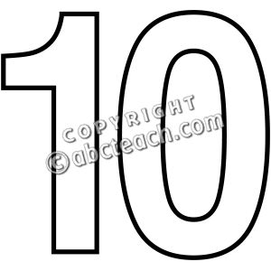 300x300 Number Clipart Black And White