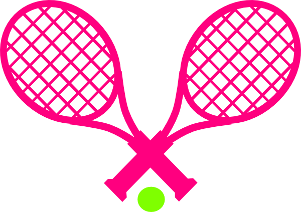 600x423 Pink Tennis With Green Ball Clip Art