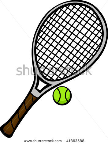 353x470 Tennis Racket And Ball Clipart