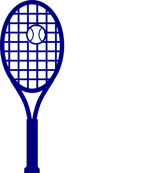 540x593 Blue Tennis Racket Clip Art