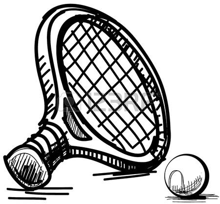 450x417 Tennis Racket And Ball Illustration Royalty Free Cliparts, Vectors