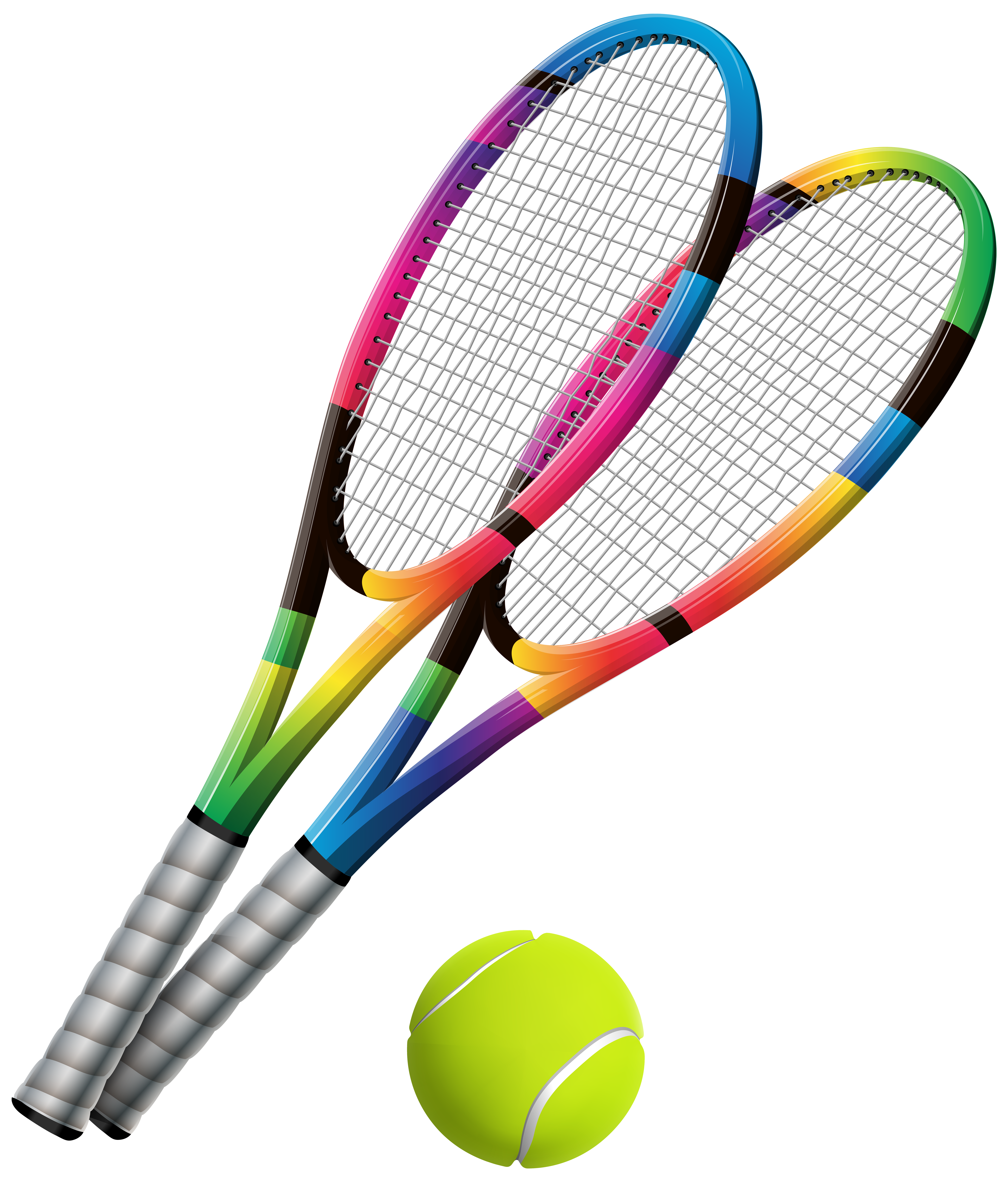 5968x7000 Tennis Rackets And Ball Transparent Png Clip Art