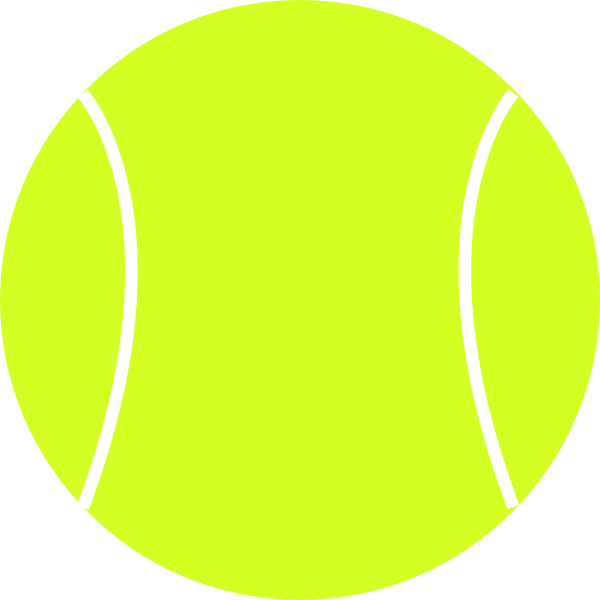 600x600 Tennis Ball Clipart Black And White Free 3