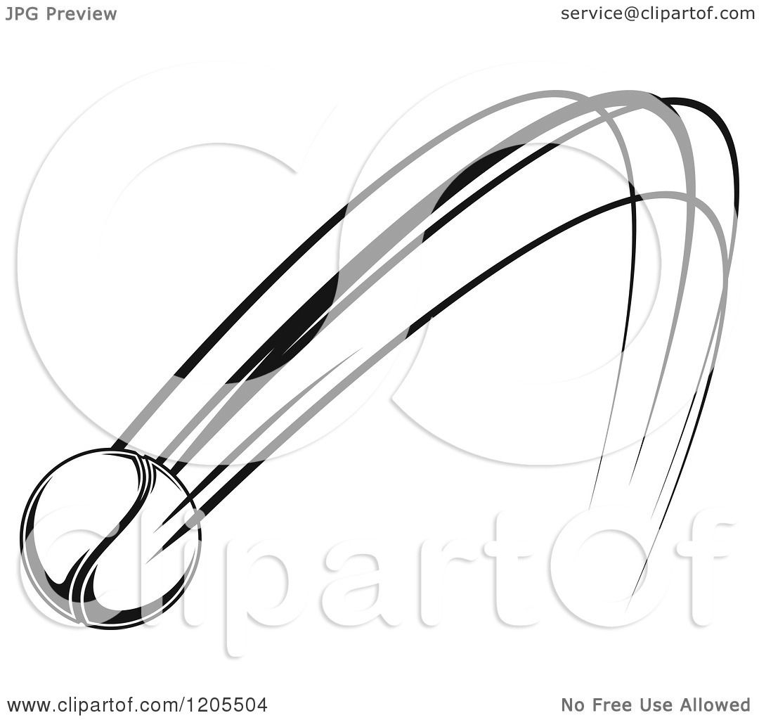 1080x1024 Clipart Of A Black And White Flying Tennis Ball 5